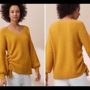 Lou & Grey Runched Marigold Sweater